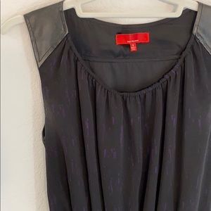 Red saks fifth avenue black & purple dress small